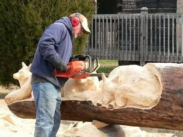 Как делают скульптуры из дерева (29 фото)
