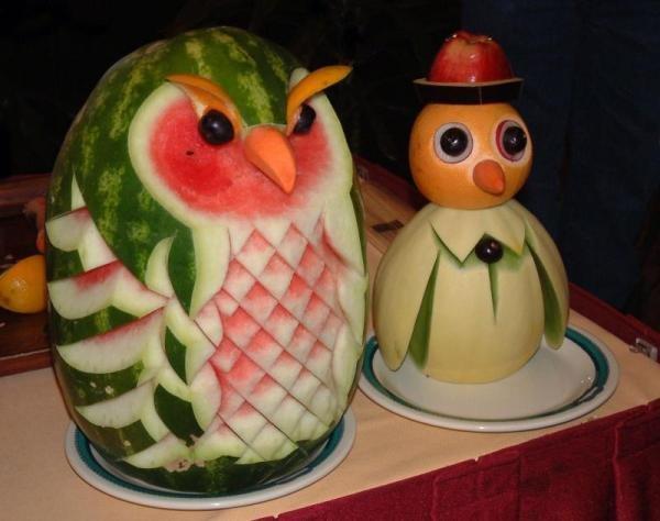 Резьба на овощах и фруктах (15 фото)