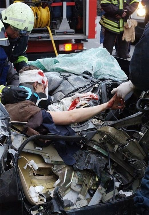 Авария в Москве (6 фото)