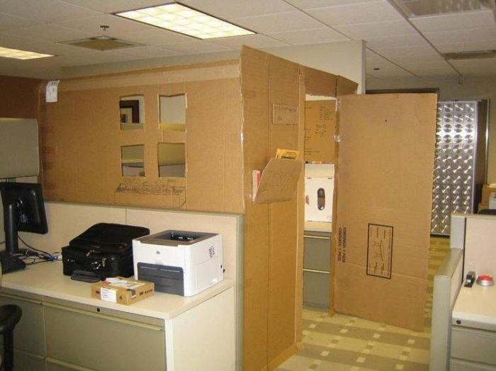 Офис в условиях кризиса (9 фото)