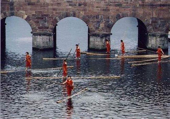Плавание на бревнах (13 фото)