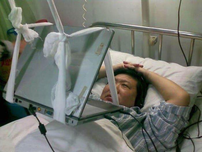 Как пользоваться ноутбуком в больнице (5 фото)