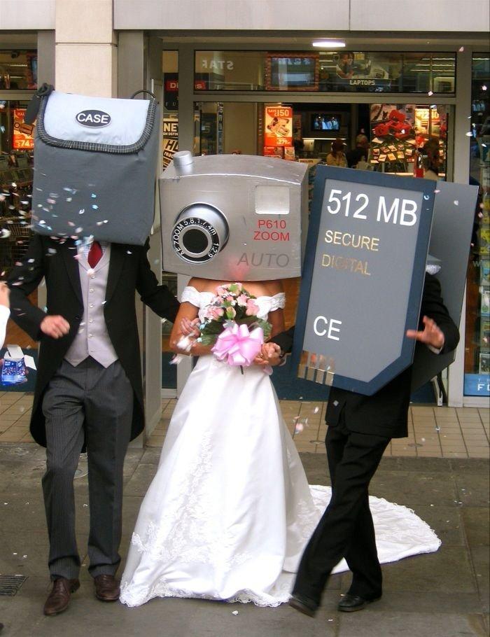 Прикольные свадебные снимки (80 фото)