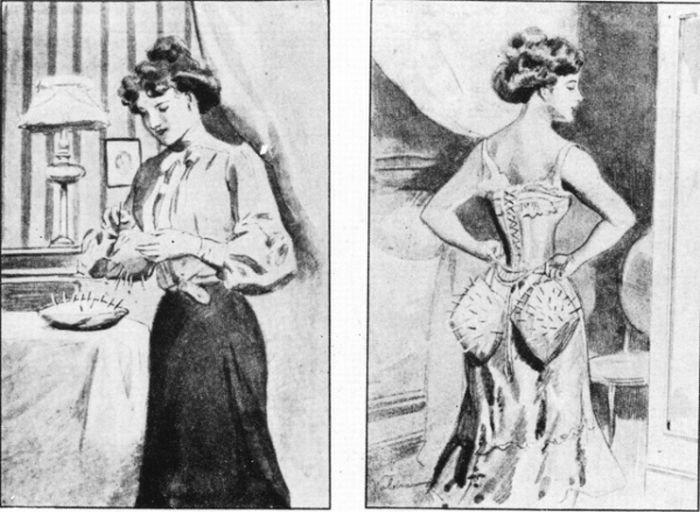 Защита от мужского внимания 100 лет назад (2 фото)