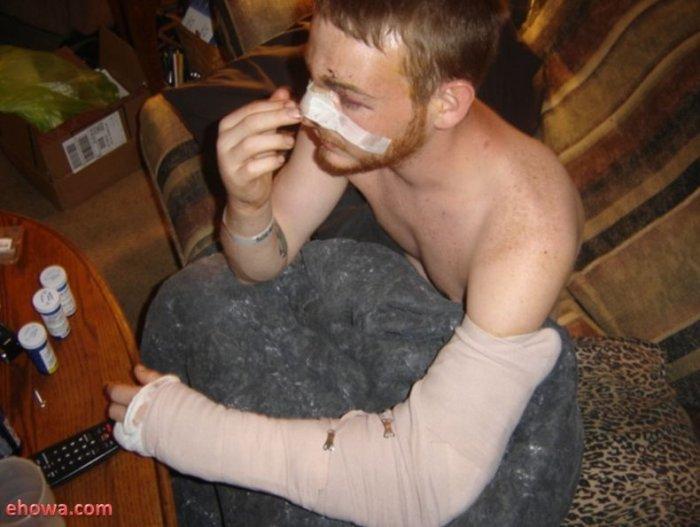 Взрыв пивного бочонка (4 фото)