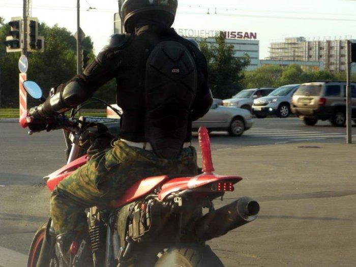 На мотоцикле с комфортом (4 фото)