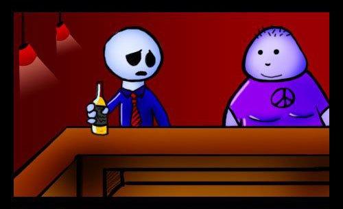 Много пить - вредно (2 фото)