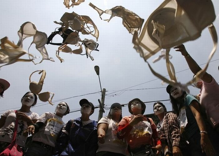 Протест в нижнем белье (14 фото)