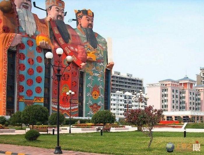 Интересное здание в Китае (4 фото)