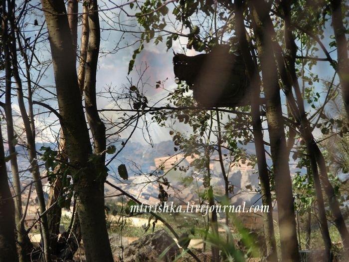 Столкновение двух истребителей (12 фото)