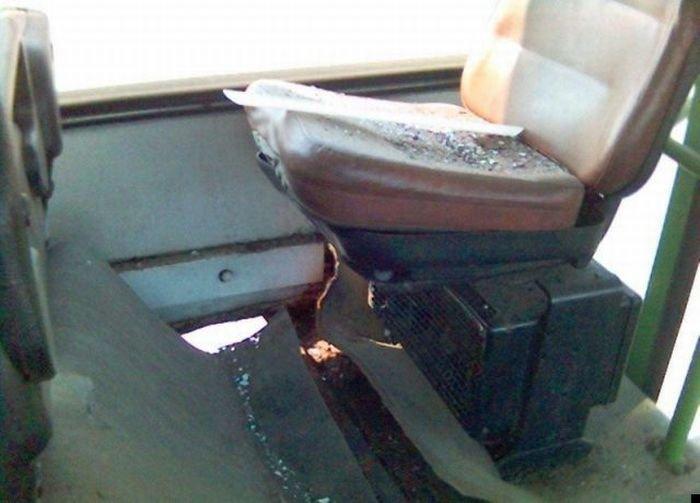 Не сидите над колесом (7 фото)