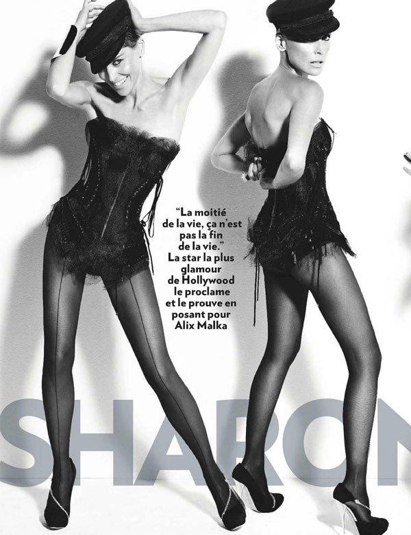 Шэрон Стоун снялась топлесс для Paris Match (6 фото)