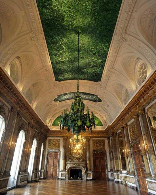 Угадайте, из чего сделан этот потолок? (6 фото)