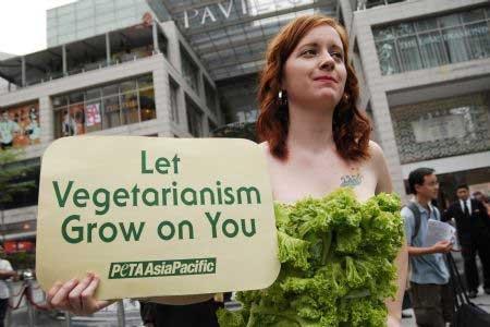 Как продвигать вегетарианство (4 фото)