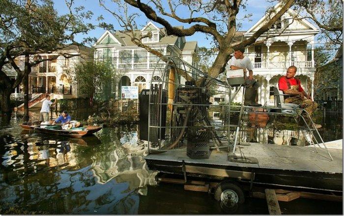 Новый Орлеан. Во время Катарины и сейчас (10 фото)