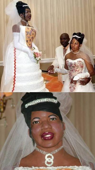Необычные свадебные торты (12 фото)