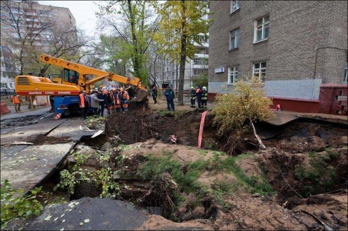 Наводнение в Москве (10 фото)