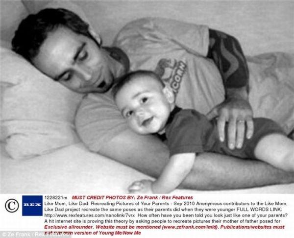 Повторение снимков родителей (24 фото)