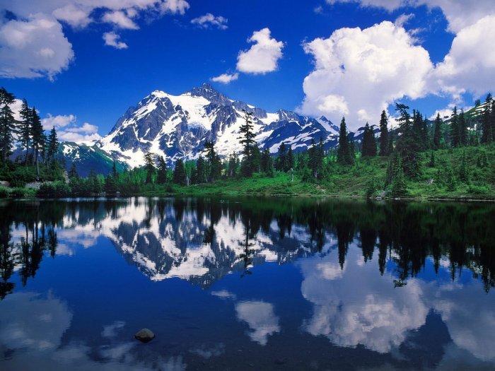Красивейшие озерные пейзажи (19 фото)