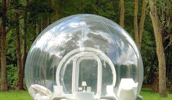 Палатка с прозрачными стенами (3 фото)