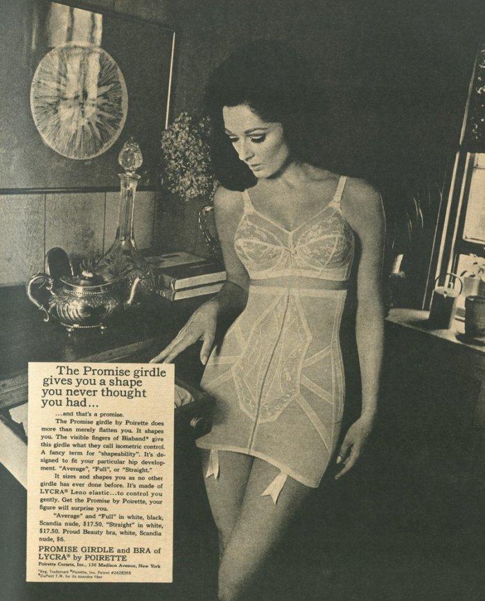 Девушки в нижнем белье 1920-1950-х годов (41 фото)
