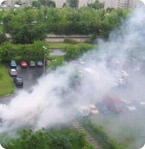 Откуда столько дыма (2 фото)