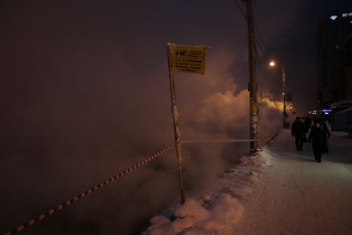 Прорыв водопровода в Санкт-Петербурге (30 фото)