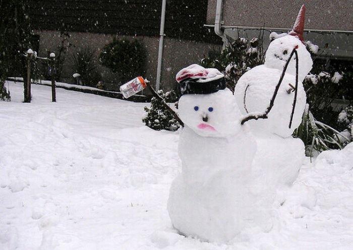 Снеговики перебрали (30 фото)