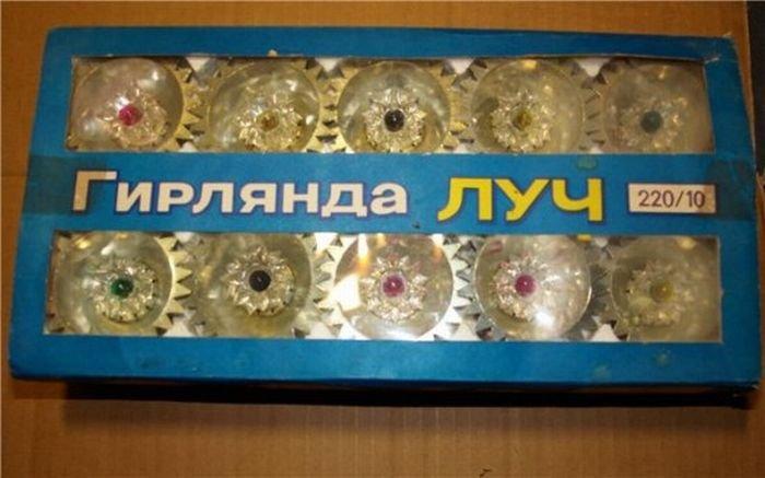 Новогодние гирлянды времен СССР (20 фото)