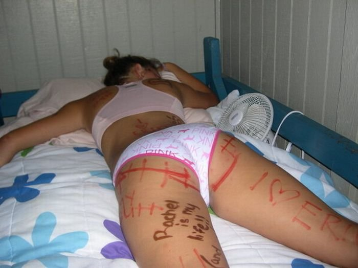 Drunk college nude passed out what shall
