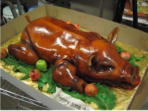 Необычные тортики (9 фото)