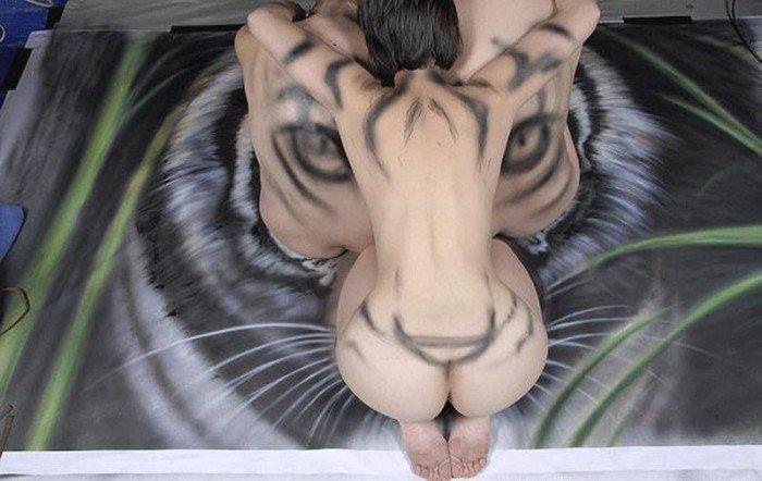 Как рисовали тигра (17 фото)