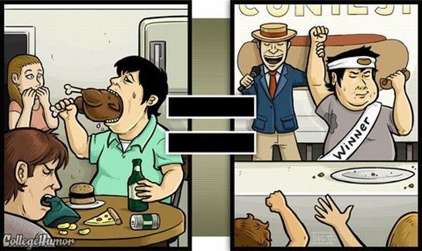 Взгляд на мир трезвого и пьяного (21 фото)