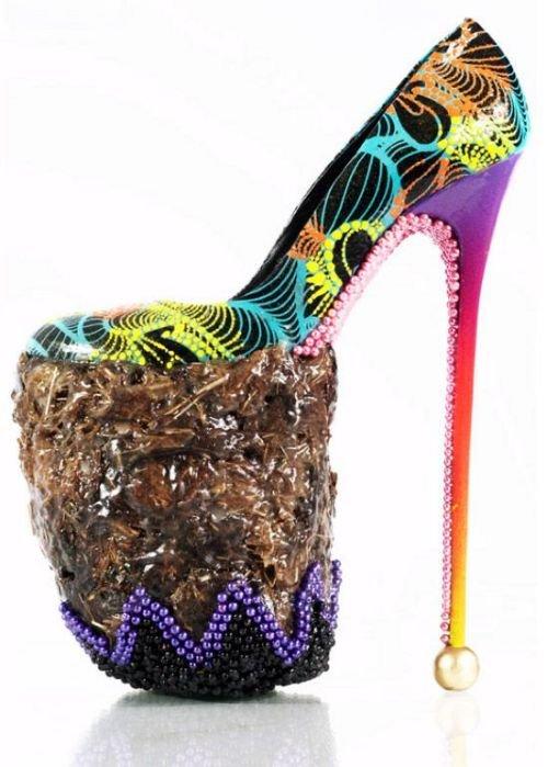 Угадайте, из чего сделаны эти туфли? (9 фото)