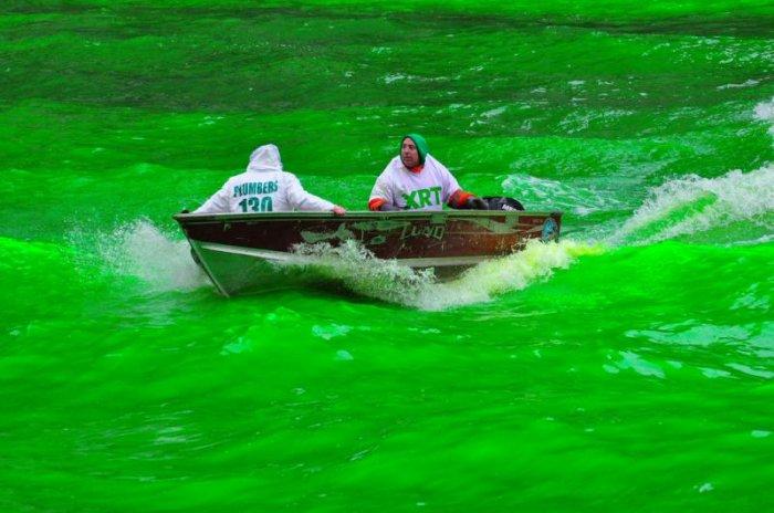 Зеленая вода (14 фото)