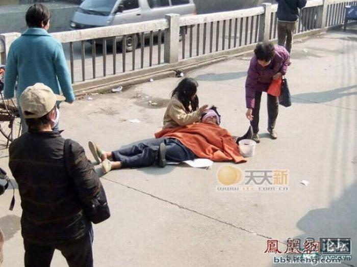 Попрошайки в Китае (12 фото)