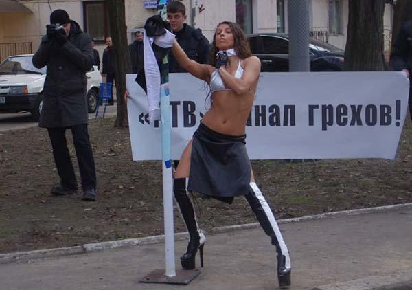 Стриптиз в Одессе (12 фото + 2 видео)