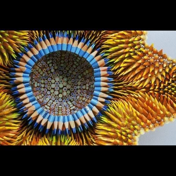 Скульптуры из карандашей (16 фото)