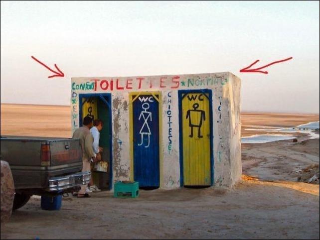 Туалетные приколы (58 фото)