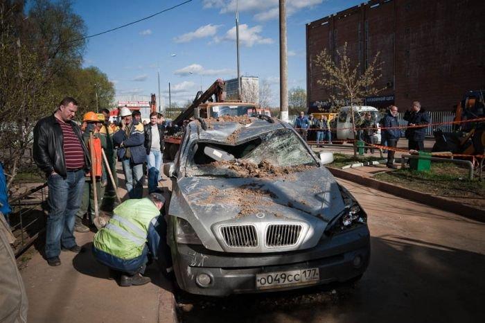 Взрыв газовой трубы в Москве (17 фото)