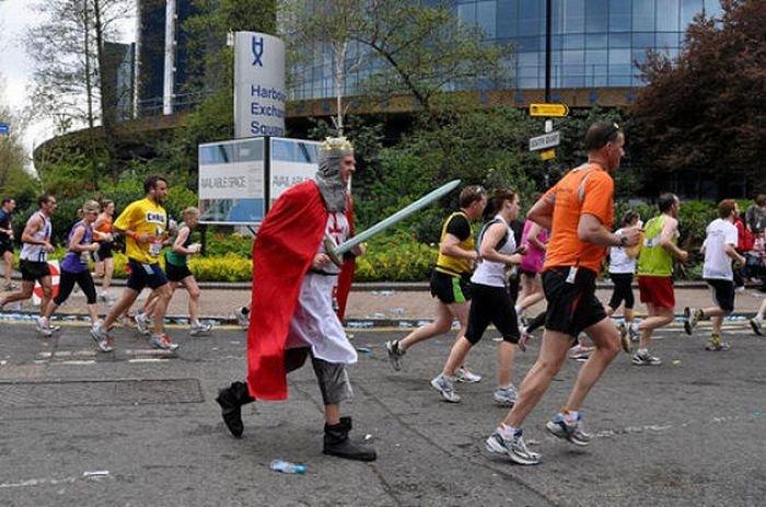 Чудаки на лондонском марафоне (42 фото)