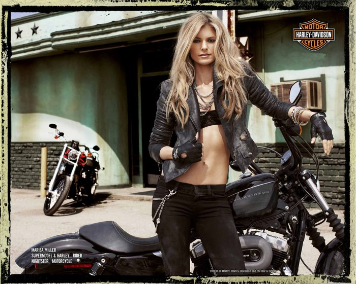 Marisa Miller в рекламе мотоциклов Harley Davidson (7 фото)