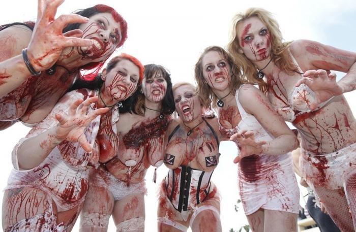 Зомби в Каннах (10 фото)