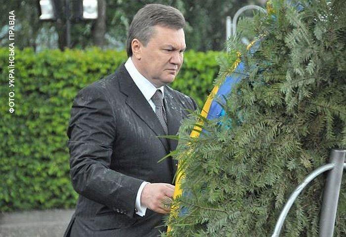 Янукович получил венком (8 фото)