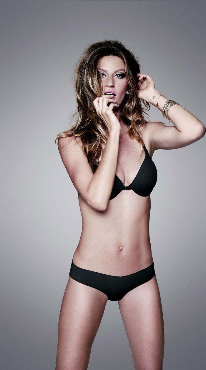 Новые фото Gisele Bundchen в белье после беременности (6 фото)