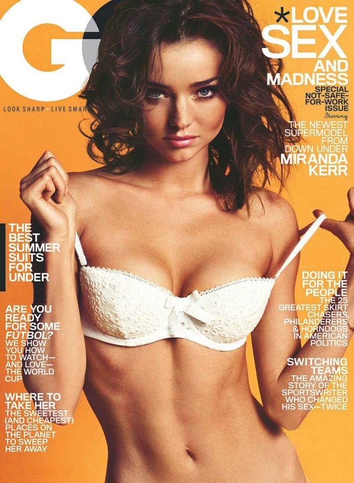 Miranda Kerr обнаженная в журнале GQ (8 фото)
