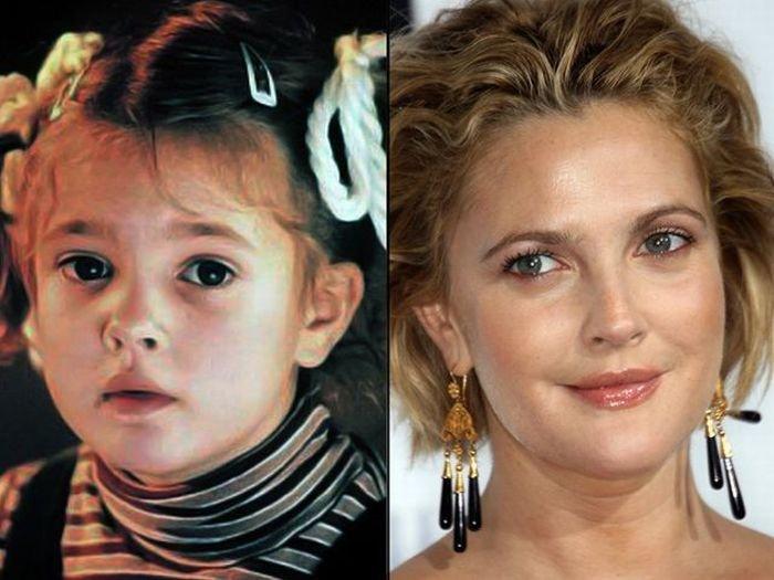 Звезды в детстве и сейчас (46 фото)