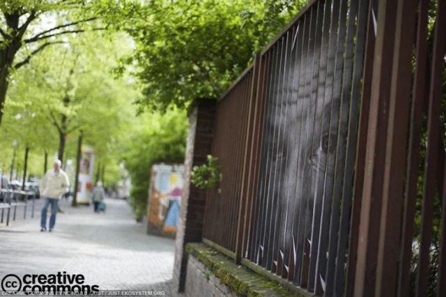 Рисунок на заборе (2 фото)