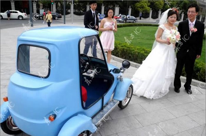 Самодельный электромобиль (6 фото)