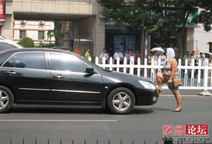 Попрошайка в Китае (7 фото)